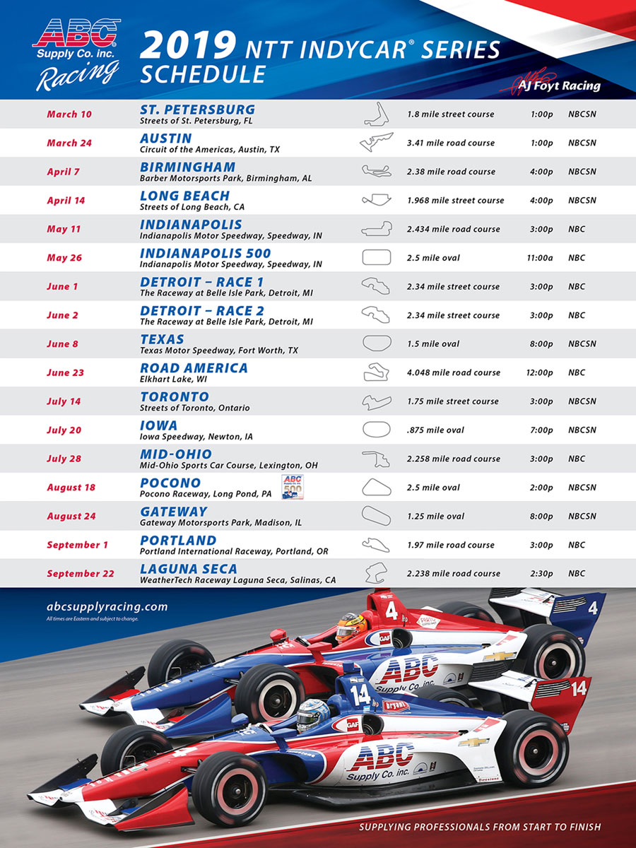 ABC Supply Racing schedule