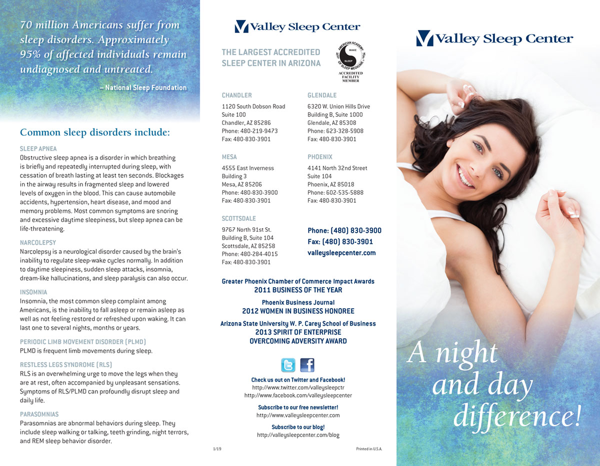 Valley Sleep Center Sleep Brochure
