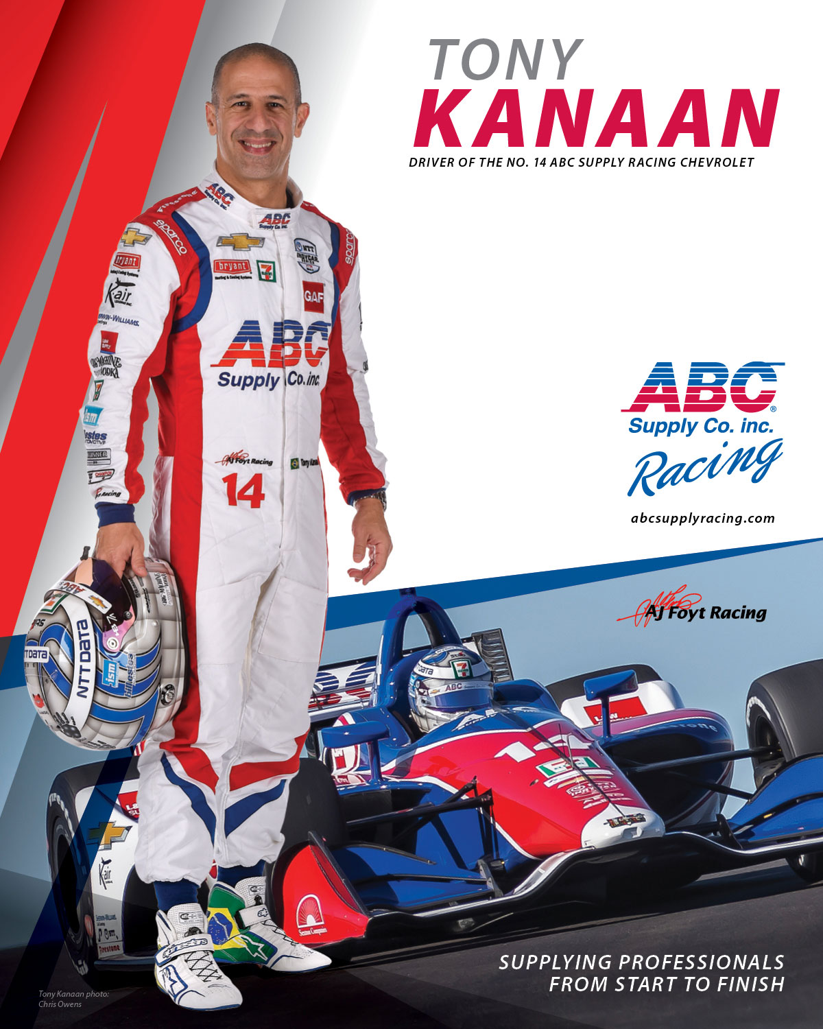 ABC Supply racing driver card.