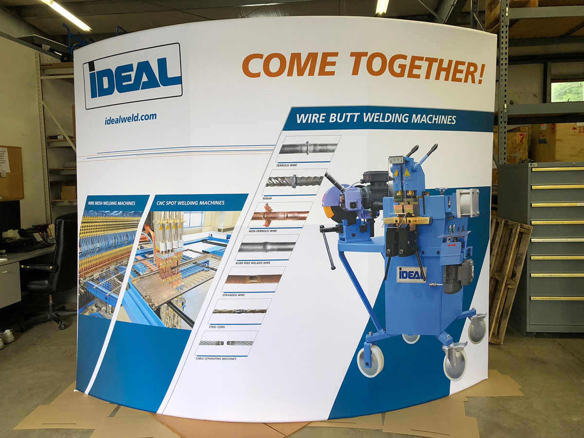 Ideal trade show booth